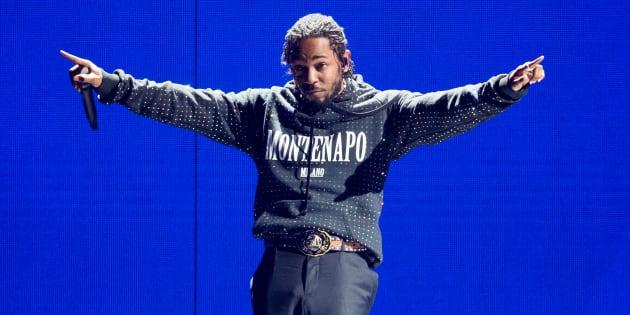 Kendrick Lamar à Londres le 21 février 2018.