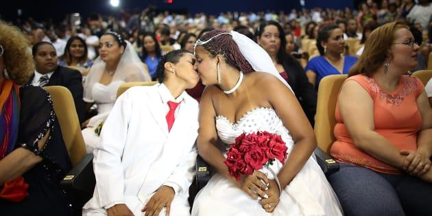 Joyce e Gabrieli se casam no Tribunal de Justiça do Rio de Janeiro.