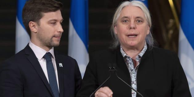 Les porte-paroles de Québec solidaire, Gabriel Nadeau-Dubois et Manon Massé.