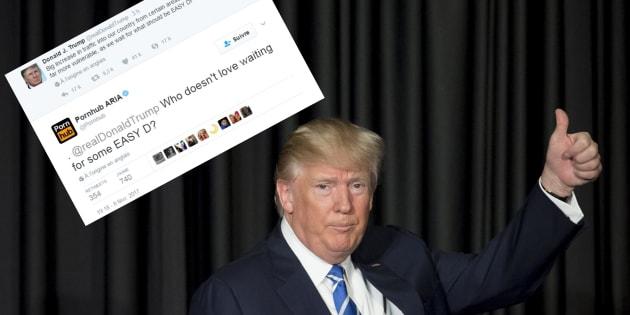 Ce tweet de Trump a inspiré Pornhub, une appli de rencontres gay et des dizaines d'internautes