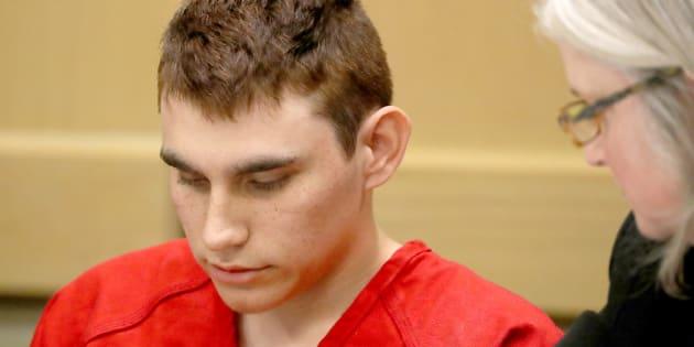 Nikolas Cruz en la primera vista del juicio por la masacre de 17 personas en un instituto.