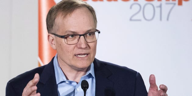 Peter Julian makes a point during an NDP leadership debate in Montreal on March 26, 2017.