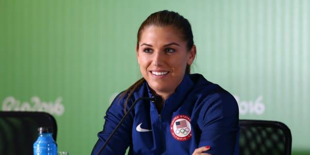 Alex Morgan lors des Jeux olympiques à Rio de Janeiro en août 2016.