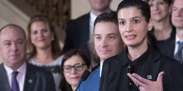 Geneviève Guilbault, vice-première ministre et ministre de la Sécurité publique, a tenu un point de presse pour faire le bilan de la session parlementaire, le 7 décembre 2018.