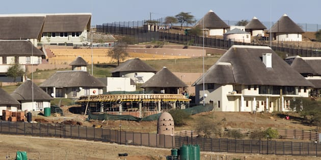 A view of the Nkandla home of President Jacob Zuma.