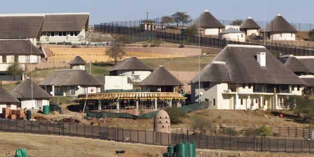 A view of the Nkandla home of President Jacob Zuma.