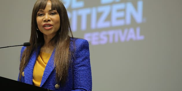 Dr Precious Motsepe of the Motsepe Foundation at the press conference for the Global Citizen Festival: Mandela 100 at Sandton Convention Centre on July 9 2018 in Johannesburg.