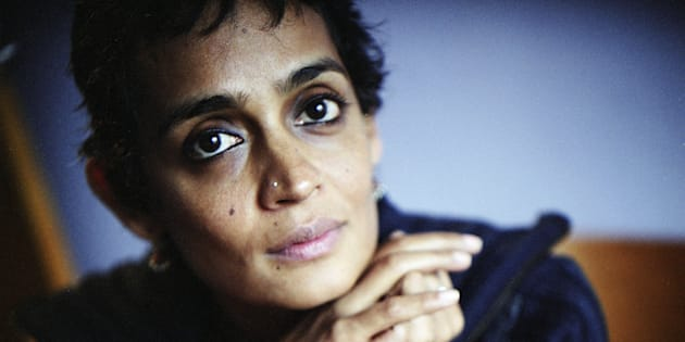 Writer Arundhati Roy poses January 23, 2004 in New York. Arundhati Roy's most famous book is 'The God of Small Things.'  (Photo by Jean-Christian Bourcart/Getty Images)