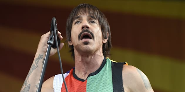 NEW ORLEANS, LA - APRIL 24:  Anthony Kiedis of Red Hot Chili Peppers performs during the 2016 New Orleans Jazz & Heritage Festival at Fair Grounds Race Course on April 24, 2016 in New Orleans, Louisiana.  (Photo by Tim Mosenfelder/Getty Images)