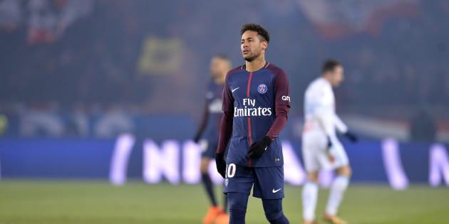 Neymar lors de PSG-OM le 25 février 2018.