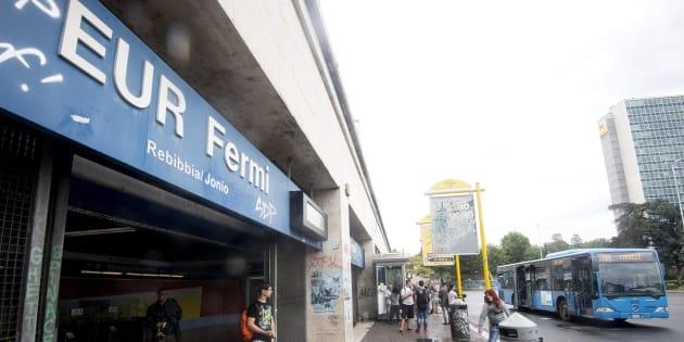 """La stazione """"Eur Fermi"""" della Metro B in una foto di archivio ANSA/CLAUDIO PERI"""