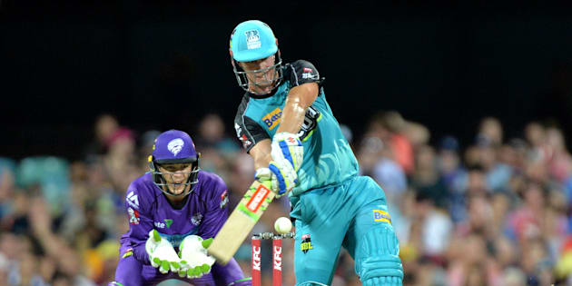 Chrs Lynn hit 26 sixes in the Big Bash this summer.