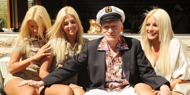 LAS VEGAS - APRIL 04:  Kristina Shannon, Karissa Shannon, Hugh Hefner and Crystal Harris attends Hugh Hefner's 83rd birthday pool party at Palms Place at the Palms Resort & Casino on April 4, 2009 in Las Vegas, Nevada.  (Photo by Denise Truscello/WireImage)