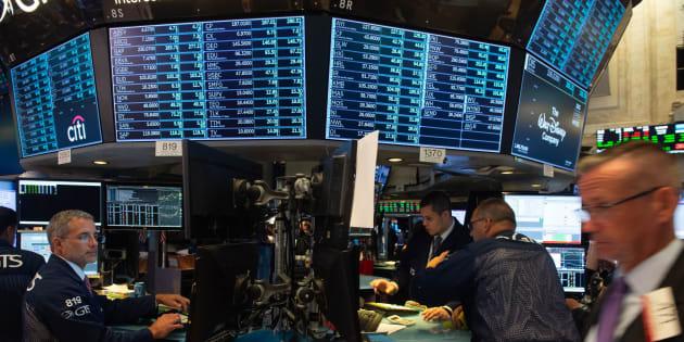 Photo d'archives de la Bourse de New York.