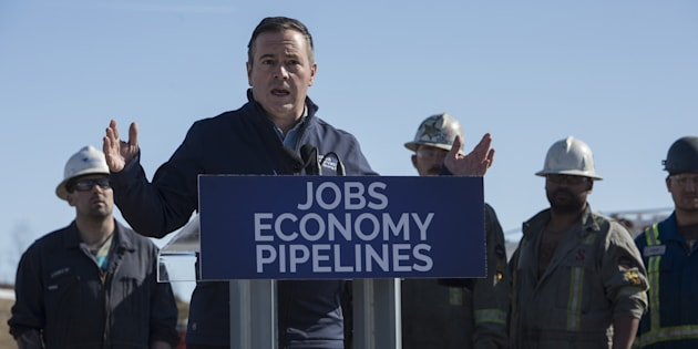 Alberta UCP leader Jason Kenney speaks at Total Energy Services in Leduc Alta. on March 19, 2019.
