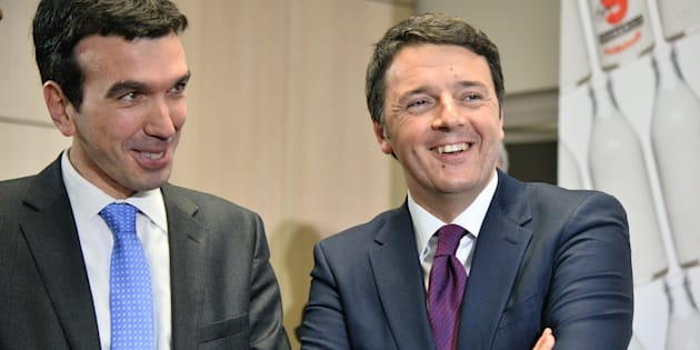 BOLOGNA, ITALY - JANUARY 10:  Italian Prime Miinister Matteo Renzi (R) with Maurizio Martina (L) italian government minister for agricultural, forestry and food's politics attends the inauguration of the Coop Granarolo executive building on January 10, 2015 in Bologna, Italy.  (Photo by Mario Carlini - Iguana Press/Getty Images)