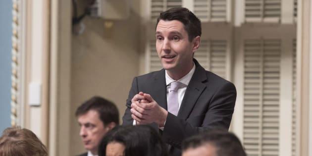 André Fortin, porte-parole de l'opposition officielle en matière de Santé, a voulu tourner au ridicule le projet de loi de la CAQ sur le cannabis.