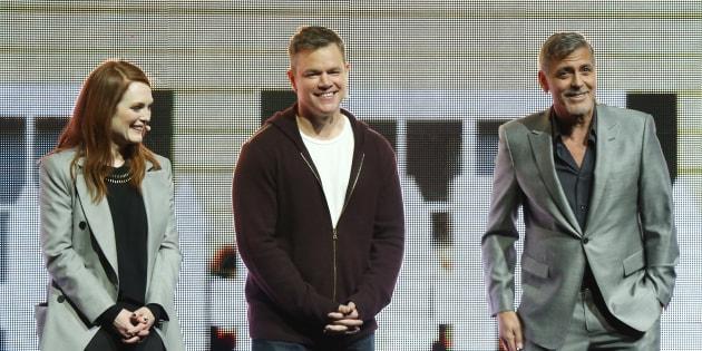 «Suburbicon», réalisé par George Clooney, met en vedette Julianne Moore et Matt Damon.