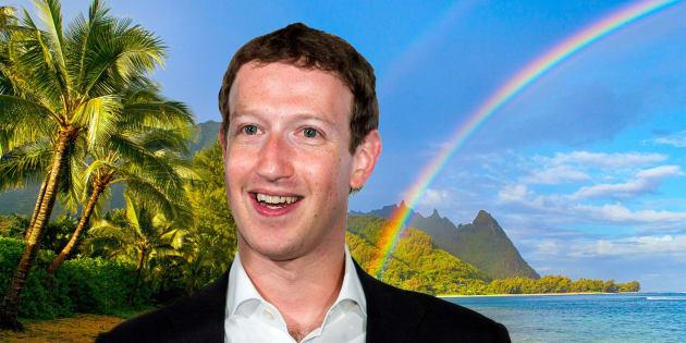 Rainbow kauai beach