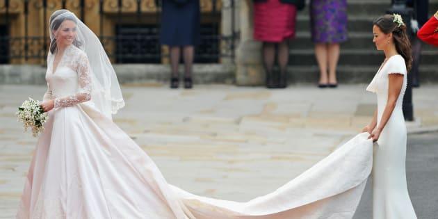 Kate Middleton ha indossato un secondo abito da sposa nel giorno del ... eefa2d9615e