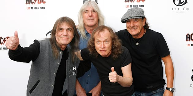 Malcolm Young, Cliff Williams, Angus Young and Brian Johnson of AC/DC.