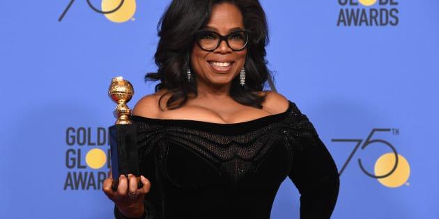 Oprah ganhou o prêmio Cecil B. DeMille na 75ª edição do Globo de Ouro.