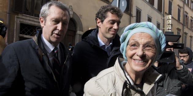Emma Bonino e Benedetto Della Vedova al loro arrivo alla sede del Pd, Roma, 13 novembre 2017.  ANSA/MAURIZIO BRAMBATTI