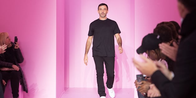 Designer Riccardo Tisci walks the runway during the Givenchy Menswear Fall/Winter show as part of Paris Fashion Week on January 22, 2016 in Paris, France.  (Photo by Dominique Charriau/WireImage)