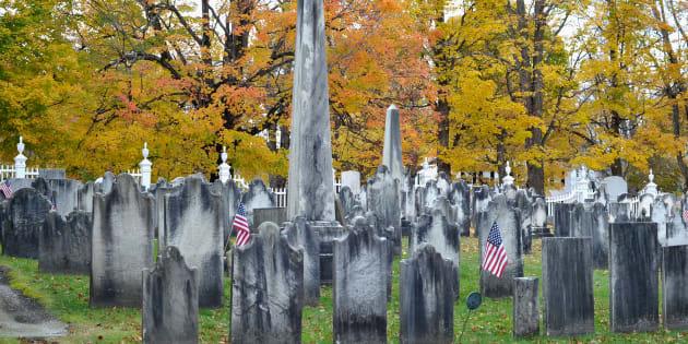 Le cimetière de Bennington, au Vermont.
