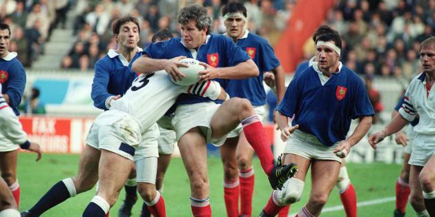 France-Angleterre en Coupe du monde à Paris le 19 octobre 1991.