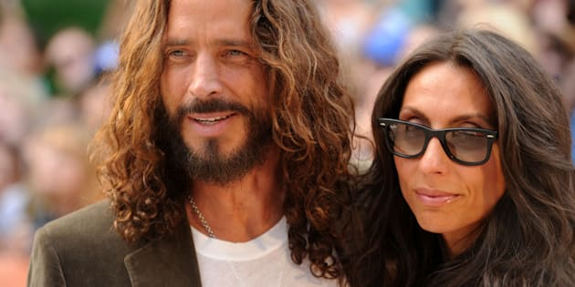 Chris Cornell and wife Vicky Karayiannis (Photo by Jason Merritt/Getty Images)