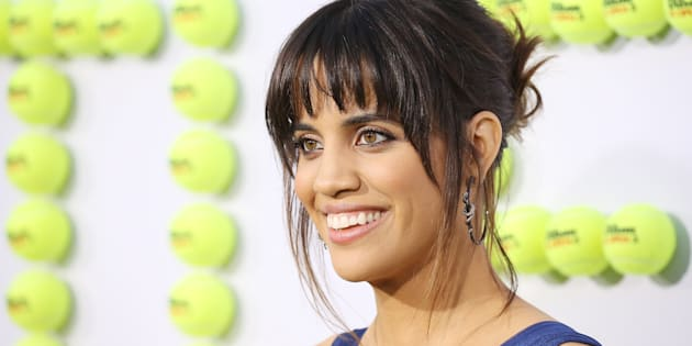 Natalie Morales at the Los Angeles premiere of 'Battle Of The Sexes' where she plays Rosie Casals, the rebellious American tennis legend.