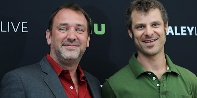 BEVERLY HILLS, CA - SEPTEMBER 01:  Trey Parker and Matt Stone attend the The Paley Center for Media presents a special retrospective event honoring 20 seasons of 'South Park' at The Paley Center for Media on September 1, 2016 in Beverly Hills, California.  (Photo by Araya Diaz/WireImage)