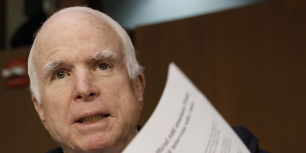 John McCain à Washington le 7 juin 2017.