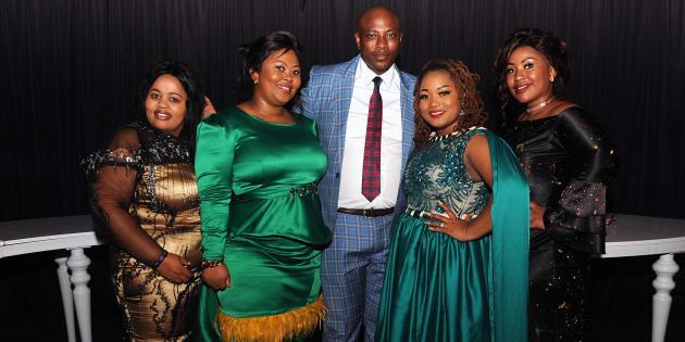Uthando Nes'thembu's Musa Mseleku and his four wives.