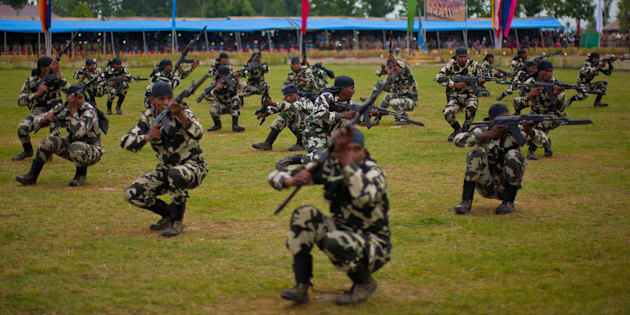 File photo of commandos of Indian Central Reserve Police Force Constables.