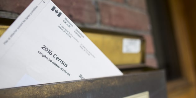 A copy of Statistics Canada's 2016 Long-Form Census mailer is seen in the mailbox of a residence in Toronto, May 3, 2016.