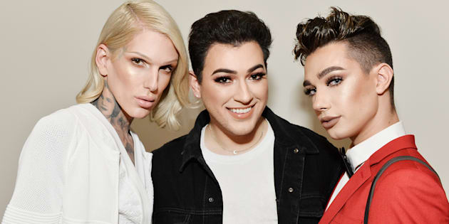 Jeffree Star, Manny Gutierrez and James Charles celebrate The Launch Of KKW Beauty on June 20, 2017 in Los Angeles.  (Stefanie Keenan/Getty Images for Full Picture)