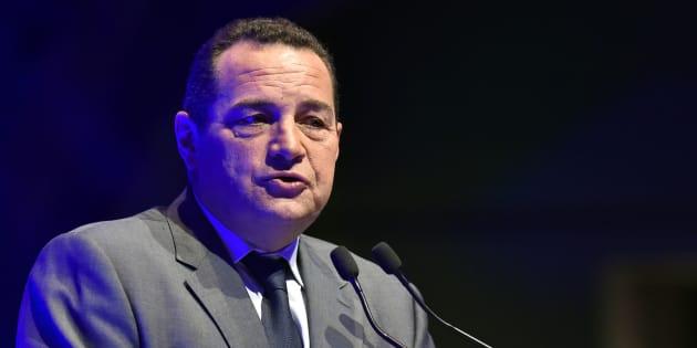 Le président du parti Chrétien-Démocrate Jean-Frédéric Poisson, le 17 octobre 2016. / AFP PHOTO / ALAIN JOCARD