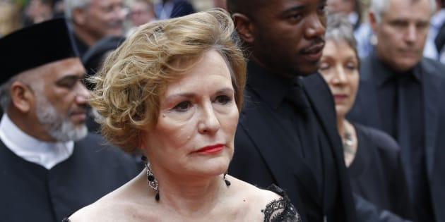 Then Democratic Alliance leader, Helen Zille, arrives for the opening of Parliament in Cape Town in February 2015.