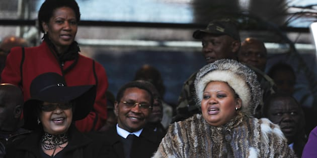 Phumzile Malbo-Ngcuka,Winnie Madikizela Mandela and Mantuli Zuma on June 11, 2011 in Johannesburg, South Africa.