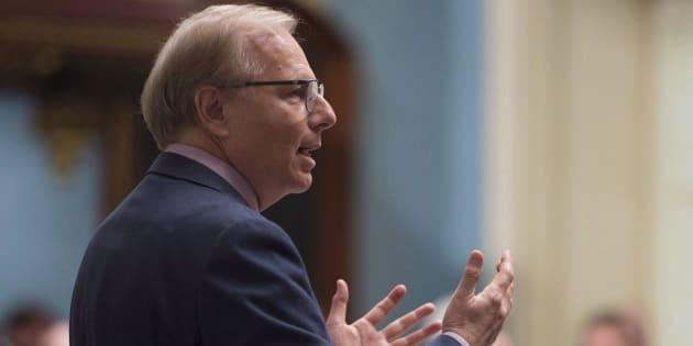 Le chef du Parti québécois, Jean-François Lisée, en période de questions.