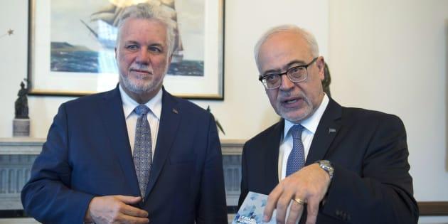 Philippe Couillard et Carlos Leitao