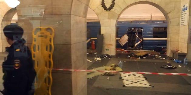 Attentat de Saint-Pétersbourg: le bilan de l'explosion dans le métro passe à 14 morts
