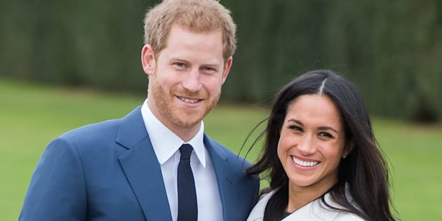 Prince Harry and Meghan Markle during an official photocall to announce their engagement on Nov. 27, 2017 in London.