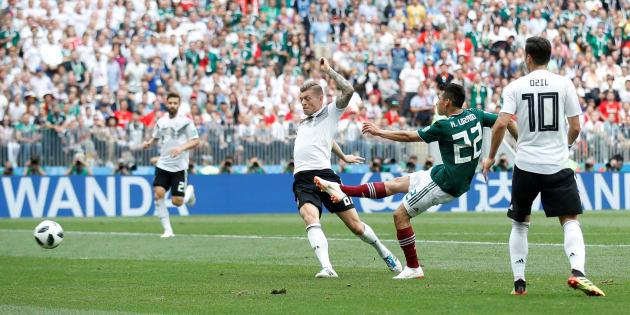 Toma del gol que Hirving Lozano metió a la selección Alemana. Así reaccionó el futbol del mundo ante la victoria de México