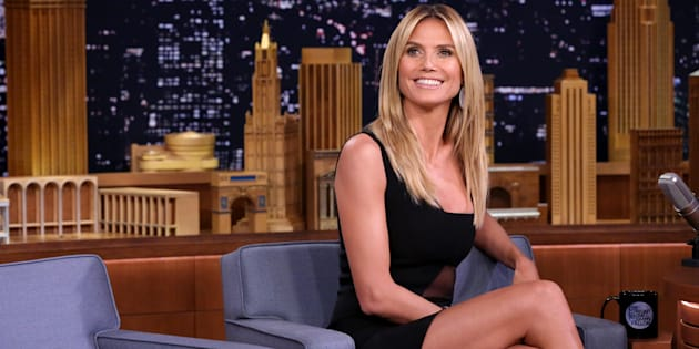 THE TONIGHT SHOW STARRING JIMMY FALLON -- Episode 0503 -- Pictured: Model Heidi Klum on July 19, 2016 -- (Photo by: Andrew Lipovsky/NBC/NBCU Photo Bank via Getty Images)