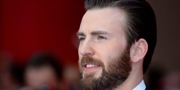 Chris Evans attends the European premiere of 'Captain America: Civil War' on April 26, 2016 in London, England.