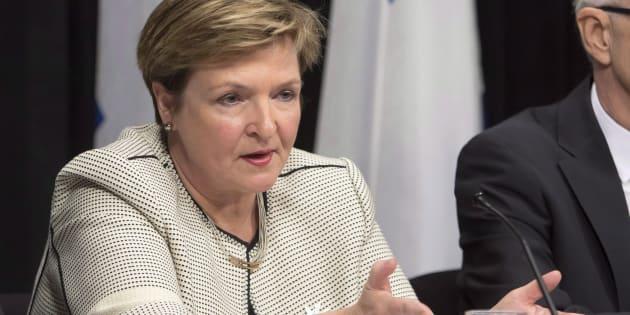 La vérificatrice générale du Québec, Guylaine Leclerc.