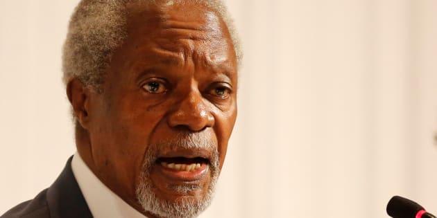 L'ancien secrétaire général de l'ONU Kofi Annan.